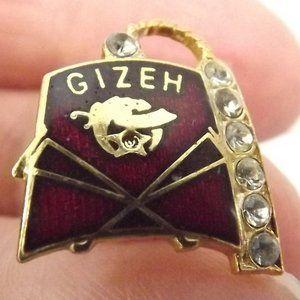 Other - Vintage Enamel Masonic Shriner Fez Hat Pin